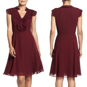Adrianna Pappell Ruffled A-Line Dress